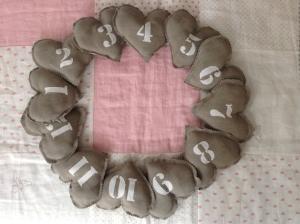 corazones numerados
