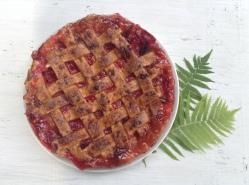 Tarta de ruibarbo y fresas/anabelula.wordpress.com