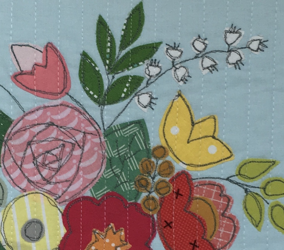 Give Yourself Some Flowers Miniquilt / anabelula.com