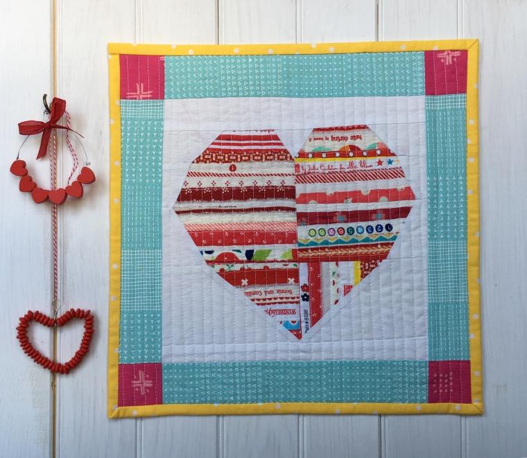 Valentine's Selvedge Heart Miniquilt